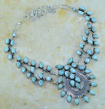 "GIANT! CARIBBEAN LARIMAR NECKLACE 20 1/2""; 91 GRAMS;YK485"