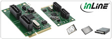 InLine Mini-PCI-Express Card, 2x SATA 6 gb/s (SATA 3), RAID 0,1,SPAN