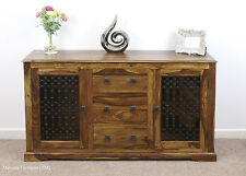 Mercers Furniture Indian Jali Large 2 Door 3 Drawer Sideboard