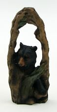 BLACK BEAR CUTAWAY SCENE Decorative Sculpture Figurine Home Gift Decor