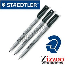 Staedtler Lumocolor 315-9 Pen-Negro - 3 Pack-OHP Pen + otras superficies!
