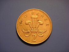 Great Britain 2 Pence, 1994, Welsh plumes and crown