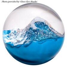 Glacier Environmental Paperweight by Glass Eye Studio GES, Made In USA  600