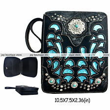 Holy bible cover case verse purse bag rhinestone Turquoise handbag Christian