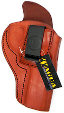 BROWN LEATHER INSIDE PANTS IWB CCW HOLSTER w/ COMFORT TAB - RUGER GP100 REVOLVER