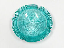 "VTG Anchor Hocking SORENO Blue Ashtray bowl candy dish 6 1/4"" vintage jewelry"