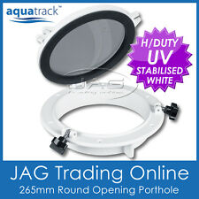 AQUATRACK 265mm ROUND OPENING PORTHOLE - Marine/Boat/RV Portlight Hatch Window