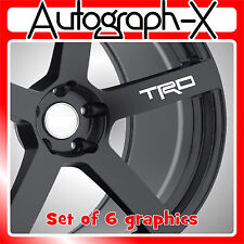 TRD alloy wheel self adhesive vinyl graphic sticker decal
