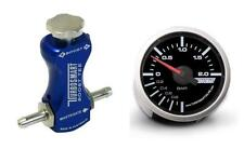 Controlador de refuerzo de manual Turbosmart azul y barra de calibre Turbosmart 52mm Boost