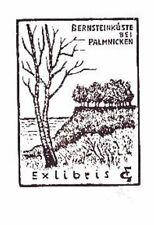 EXLIBRIS x3 linolschnitt succinico costa Franz grickschat 167 firmato BOOKPLATE
