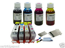 4 Ink Cartridge+4x100ml refill ink for HP564 Photosmart 5514 5515 5520 printer1P