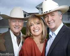Larry Hagman JR Ewing Patrick Duffy Linda Grey Dallas 8x10 Photo 002