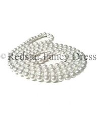 "1920's CHARLESTON FLAPPER PEARL NECKLACE 48"" LONG GREAT GATSBY FANCY DRESS"