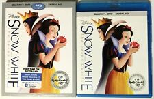 DISNEY SNOW WHITE & THE SEVEN DWARFS BLU RAY DVD SIGNATURE EDITION + SLIPCOVER