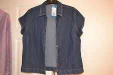M&S STRETCH DENIM BLOUSE/TOP SIZE 14 BRAND NEW WITH LABELS