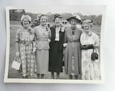 Vintage 40s B/W Photograph. 5/ Five Elderly Ladies (Sister?) in Smart Clothes