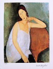 Amedeo Modigliani PORTRAIT OF JEANNE HEBUTERNE Facsimile Signed Small Giclee Art