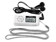 Silvercrest FM-UKW Scan Radio Taschenradio LC-Display mit Kopfhörer Weiß