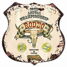 BP-0014 RODEO Shield Rustic Chic Sign Bar Store Shop Home Decor Gift