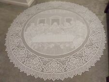 New Ivory lace Last Supper design Tablecloth