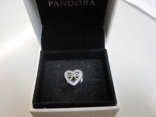 PANDORA BOUND BY LOVE CHARM W/GIFT BOX-791875CZ-FREE SHIPPING & FREE GIFT TOO