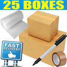 DOUBLE WALL *25 LARGE Cardboard House Moving Boxes - Removal Packing box