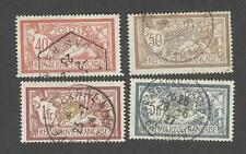 France -Timbres oblitérés - Merson - N°119,120,121 et 123 - TB