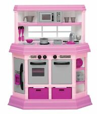 American Plastic Toy PLAY KITCHEN, Lights & Sounds Deluxe Custom TOY KITCHEN SET
