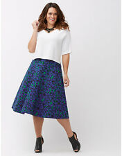 NEW LANE BRYANT PLUS SIZE THE MODERNIST FLORAL CIRCLE SKIRT SZ 16