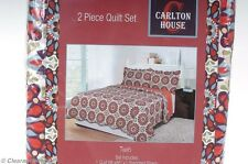 Carlton House 2-Piece Twin Quilt Set Contemporary Pattern New Quilt & Sham 2129