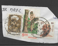 date on post mark - 16th May 1986 - high value india stamps on piece / gift