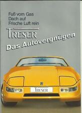 TRESER COUPE SALES BROCHURE SEPTEMBER 1987 FOR 1988 GERMAN LANGUAGE