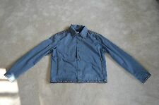 Moschino Jeans Navy Blue Silver Studded Button Up Jacket Coat Mens ITA 50 UK 40