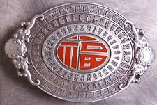 Pewter Belt Buckle International Chinese Lucky Knot NEW