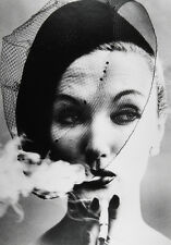 William KLEIN: Smoke + Veil, Paris (Vogue), 1958 / Silver print / SIGNED!!!