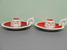 Vintage Christmas Holt Howard Santa Chamber Style Candle Holders (Japan/1959)