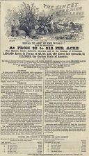 Illinois Central Railroad Print Ad Illinois Land for Sale Along Railway 1863 Ad