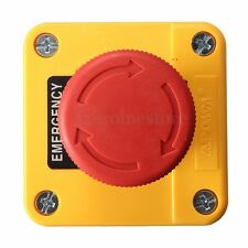 600V Trun to Release Waterproof Red Sign Emergency STOP Push Button Switch