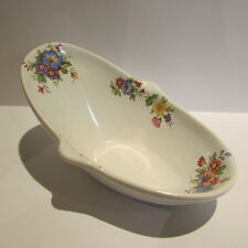 Hip Bath ~ CERAMIC ~ FLORAL DETAIL ~ Doll House Miniature ~ 1/12th scale