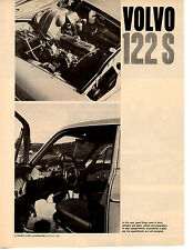 1960 VOLVO 122S  ~  NICE ORIGINAL 3-PAGE ROAD TEST / ARTICLE / AD