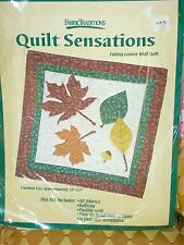 """""QUILT SENSATIONS - FALLING LEAVES - WALL QUILT"""" - QUILTING KIT - NIP"