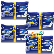 4x 20 Always Ultra Night With Wings Sanitary Pads