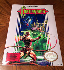 "Castlevania NES box art retro video game 24"" poster print nintendo 80s dracula"