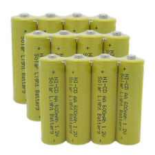 12 AA 2A Size 600mAh 1.2V Rechargeable Battery For Garden Solar Light Yellow USA