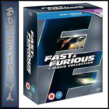 FAST AND FURIOUS -MOVIE COLLECTION 1 2 3 4 5 6 & 7*BRAND NEW BLU-RAY REGION FREE