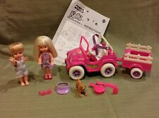 "Mattel Barbie Kelly & Tommy Power Wheels ""Jeep"" Playset 1998 #18717 All in Mint"