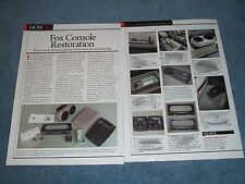 """Ford Mustang Fox Body How-To Tech Info Article """"Fox Console Restoration"""""""