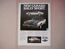 1974 CHEVROLET CAMARO RALLY SPORT - ORIGINAL PRINT CAR AD - EXCELLENT COND