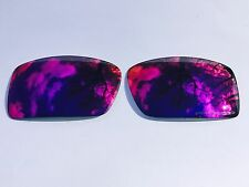 NEW POLARIZED POSITIVE RED CUSTOM MIRRORED REPLACEMENT OAKLEY GASCAN LENSES