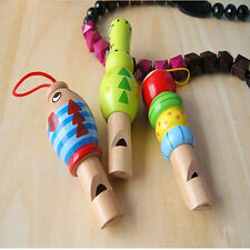 Wooden Cartoon Animal Whistle Baby Children Educational Music Instrument Toy